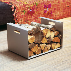 Alu Like Heizer wood carrier | Fireplace accessories | jankurtz