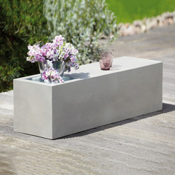 Beton bench with cinc tub | Garden benches | jankurtz