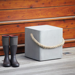 Beton Rope stool / side table | Garden stools | jankurtz