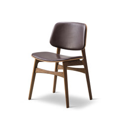 Søborg Wood Base - seat and back upholstered | Sillas | Fredericia Furniture