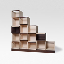 Cubo Dynamic library | Library shelving | Trentino Wood & Design