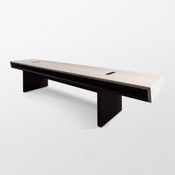Double Bench without backrest | Bancs | Trentino Wood & Design