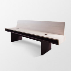 Double Bench with backrest | Benches | Trentino Wood & Design
