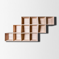 Edge Wall shelving modular system | Wall shelves | Trentino Wood & Design