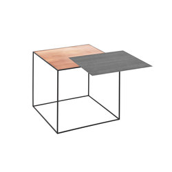 Twin Table black-stained ash/copper | Mesas auxiliares | by Lassen