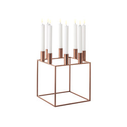 Kubus 8 Copper | Candlesticks / Candleholder | by Lassen