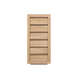 Oak Flat chest of drawers | Sideboards | Ethnicraft