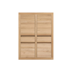 Oak Flat storage cupboard | Cabinets | Ethnicraft