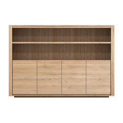 Oak Shadow sideboard high | Librerías | Ethnicraft