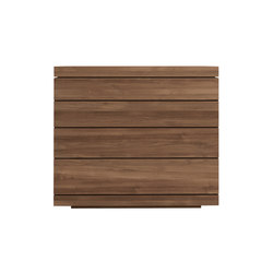 Teak Burger chest of drawers   Buffets   Ethnicraft