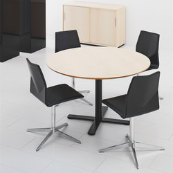 X12 Coloumn with cross foot base | Cafeteriatische | Holmris Office