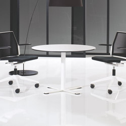 X12 Coloumn with cross foot base | Tables de cafétéria | Holmris Office