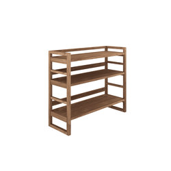 Teak Skelet rack small | Librerías | Ethnicraft