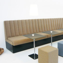 Hiltona bench | Restaurant seating systems | jankurtz