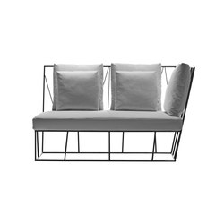 Hervé two-seater element | Gartensofas | Driade