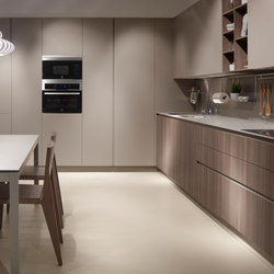 Serie 45 | Elm chocolate stone | Fitted kitchens | dica