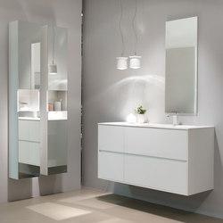 Neva | Polar white | Mirror cabinets | dica