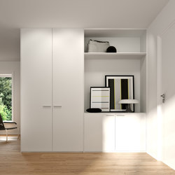 Hinged doors | Polar white | Built-in cupboards | dica