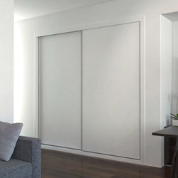 Sliding doors | Polar white | Built-in cupboards | dica