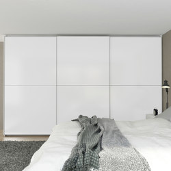 Sliding doors | Matt crystal white | Cabinets | dica