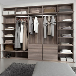 Walk-in closets | Elm chocolate | Built-in cupboards | dica