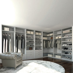 Walk-in closets | Stone | Cabinets | dica
