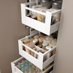 Accessories Kitchen | Column metallic drawers | Shelving | dica