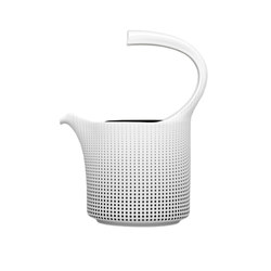 AURÉOLE CLAIR DE LUNE Teapot with tea strainer | Dinnerware | FÜRSTENBERG