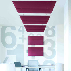 ECOstrong ceiling / wall | Sound absorbing suspended panels | Slalom