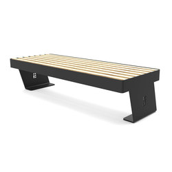 Noir bench | Bancos de exterior | Urbo