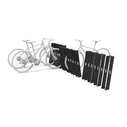 Noir bicycle rack | Bicycle stands | Urbo
