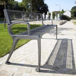 Basic bench mesh | Außenbänke | Concept Urbain