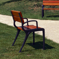 Basic armchair wood | Exterior chairs | Concept Urbain