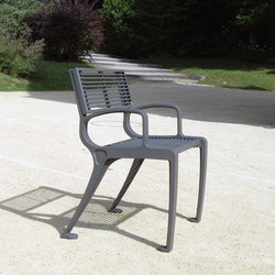 Basic armchair mesh | Exterior chairs | Concept Urbain