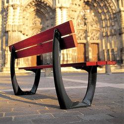Delta wooden bench | Exterior benches | Concept Urbain