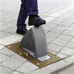 Delta bollard T36 retractable | Bollards | Concept Urbain
