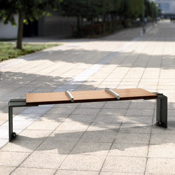Evéole backless bench type A | Panche | Concept Urbain