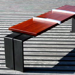 Evéole backless bench type B | Exterior benches | Concept Urbain