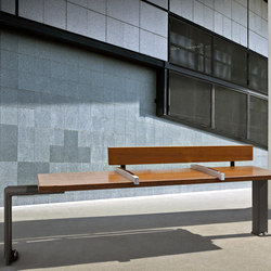 Evéole backless bench type C | Bancos de exterior | Concept Urbain