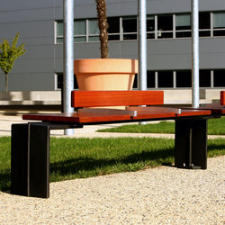 Evéole backless bench type D | Exterior benches | Concept Urbain
