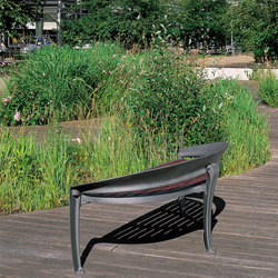 Nastra wooden low backless bench | Exterior benches | Concept Urbain