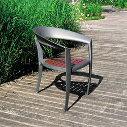 Nastra wooden armchair | Exterior chairs | Concept Urbain