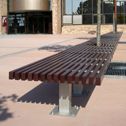 Ocean backless bench | Exterior benches | Concept Urbain