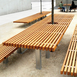 Ocean table | Benches with tables | Concept Urbain