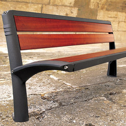 Vesta wooden bench | Exterior benches | Concept Urbain