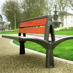 Vesta double wooden bench | Benches | Concept Urbain