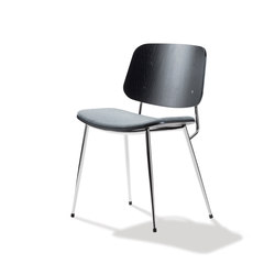 Søborg Steel Base - seat upholstered | Sièges visiteurs / d'appoint | Fredericia Furniture