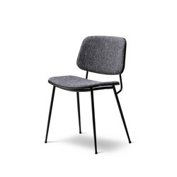 Søborg Steel Base - seat and back upholstered | Chairs | Fredericia Furniture