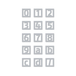 Pictrograms | señaletica tipografia | Numeri | Didheya