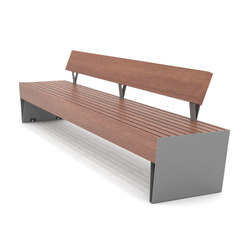 blocq Park bench with backrest | Exterior benches | mmcité